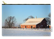 Red Winter Barn Carry-all Pouch