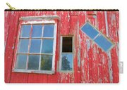 Red Wood And Windows Carry-all Pouch