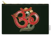 Red Wooden Om Green Mandala Carry-all Pouch