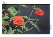 Red Zinnia Flowers Carry-all Pouch