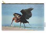 Reddish Egret Nabs A Fish Carry-all Pouch