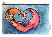 Redhead Mermaid Carry-all Pouch