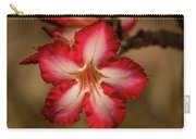 Redwhite Flower Carry-all Pouch