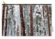 Redwoods In Snow Carry-all Pouch