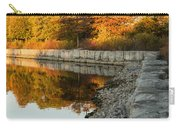 Reflecting On Autumn - Gray Rocks Highlighting The Foliage Brilliance Carry-all Pouch
