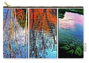 Reflecting On Autumn - Triptych Carry-all Pouch