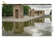 Reflecting On Millennia - Egyptian Temple Of Debod In Madrid Spain  Carry-all Pouch