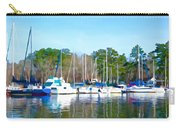 Reflecting The Masts - Watercolor Style Carry-all Pouch