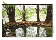 Reflecting Tree Trunks Carry-all Pouch