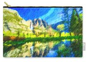 Reflection In Merced River Of Yosemite Waterfalls Carry-all Pouch