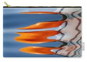 Water Reflection Of Orange Blobs And Black Zig Zagging Lines Carry-all Pouch