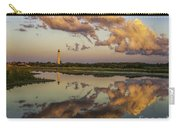 Reflection Of Clouds And Lighthouse Carry-all Pouch