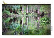 Reflection Of Cypress Trees Carry-all Pouch