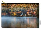 Reflection Of Little White Church With Fall Foliage Carry-all Pouch