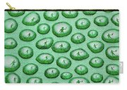 Reflection Of Waving Man In Water Droplets On Green Carry-all Pouch