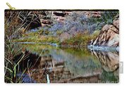 Reflections In Desert River Canyon Carry-all Pouch