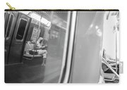 Reflections In New York City Subway Carry-all Pouch by Ranjay Mitra