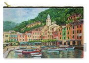 Reflections Of Portofino Carry-all Pouch by Charlotte Blanchard