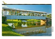 Reflections Of The Halls Mill Covered Bridge Carry-all Pouch