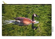 Reflections - Swimming Goose 003 Carry-all Pouch