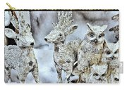 Reindeer And Owls Holiday Celebration 2 Carry-all Pouch