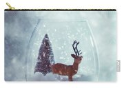 Reindeer In Glass Snow Globe  Carry-all Pouch