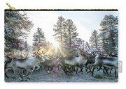 Reindeer On Autumn Sun Carry-all Pouch