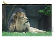 Relaxing Lion With A Thick Black Fur Mane Carry-all Pouch