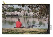 Relaxing Under Cherry Blossoms Carry-all Pouch
