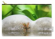 Reflected Little Stinger Taking A Sip 2 By Chris White Carry-all Pouch