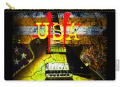 Relic Guitar Music Patriotic Usa Flag Carry-all Pouch