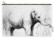 Rembrandt: Elephant, 1637 Carry-all Pouch