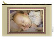 Renoircalia Catus 1 No. 2 - Adorable Baby L B With Decorative Ornate Printed Frame. Carry-all Pouch