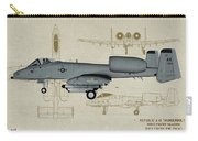 Republic A-10 Thunderbolt II - Profile Art Carry-all Pouch