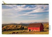 Red Barn Autumn Landscape Carry-all Pouch