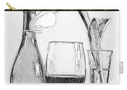 Reserved Table For One In Black And White Carry-all Pouch