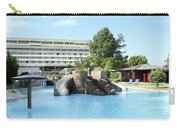 Resort With Swimming Pool Summer Vacation Scene Carry-all Pouch