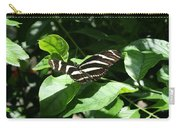 Resting - Black And White Butterfly Carry-all Pouch