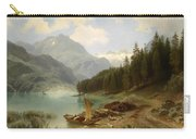 Resting By The Mountain Lake Carry-all Pouch