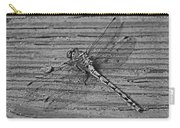 Resting Dragonfly -bw Carry-all Pouch