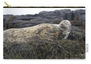Resting Gray Seal On Seaweed Carry-all Pouch