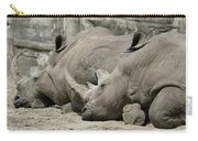 Resting Rhinos Carry-all Pouch