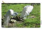 Resting Wood Stork And White Egret Carry-all Pouch