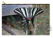 Resting Zebra Swallowtail Butterfly Carry-all Pouch