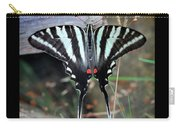 Resting Zebra Swallowtail Butterfly Square Carry-all Pouch