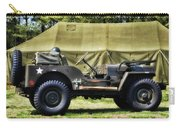 Restored Willys Jeep And Tent At Fort Miles Carry-all Pouch