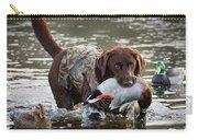 Retrieving Chocolate Labrador Carry-all Pouch