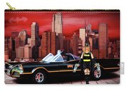 Retro Bat Woman Carry-all Pouch