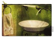 Retro Bathroom Grunge Carry-all Pouch