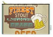 Retro Beer Sign-jp2917 Carry-all Pouch